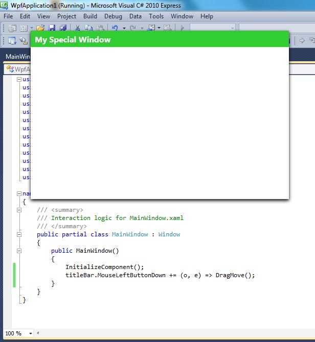 A Basic Borderless WPF Window (with Bad Drop Shadow) | nf2p com